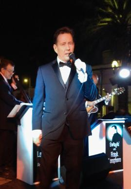 """Rat Pack Jazz"" singer Frank Lamphere at the Palms in Las Vegas"