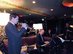 Frank Lamphere's Rat Pack Jazz performs at a fundraiser for SAFE Haven of Racine at The Hobnob