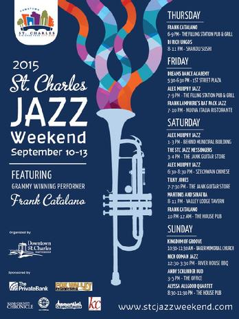 Frank Lamphere performs at the annual St. Charles Jazz Weekend September 11, 2015